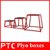 Crossfit equipment plyo boxes of gym exercise training