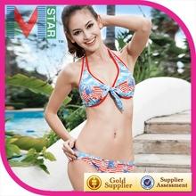 de la bandera americana spandex bikini bikini de color de manga larga traje de baño xxxl sexi niñas trajes de baño bikini