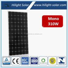 High quality solar module 310w , 310w Monocrystalline Solar Panel, PV Solar Panel, TUV,UL,CE,INMETRO,MCS,,ISO
