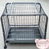large black cheap stainless steel dog cage