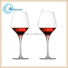 Top Slope rim Lead Free Wine Glass, glass wine cup
