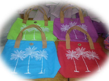 Hawaiian tropic palm tree beach bag 2015