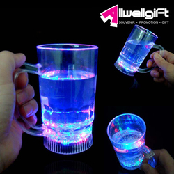 Factory Direct glass flashing led bar wine cup
