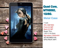 High level 7 inch tablet 3g mid pad with 1280*800 IPS screen smart tablet with metal case woo tablet 7