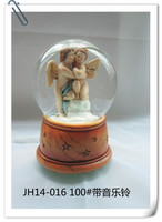 Wholesale Jesus Christ Mary and baby jesus statue snow globes