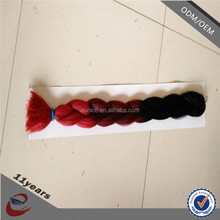 hight temperature fiber colored ombre synthetic hair extension, synthetic ombre marley hair braid