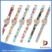 Apple Shape Slim belt Diamond PU Leather Fashion Watch , Dress watches