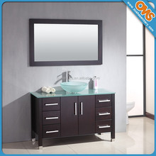 Hangzhou floor standing solid wood bathroom cabinets