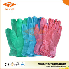 disposable colorful vinyl gloves for cleanroon/lab / hospital /medical