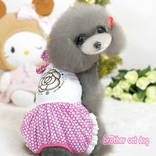 Hot sales unique design brand name dog clothing for spring summer