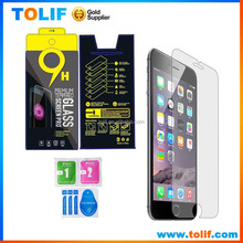 Hot sale!9H tempered glass screen protector for iPhone 6,6s,6plus,6s plus,0.26mm HD clear tempered glass protectors film
