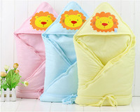 cotton Infant wrap for kids lion printed soft cotton baby quilt children fashion comfortable quilt