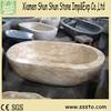 Natural stone sunny beige granite marble portable bathtub