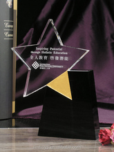 Crystal trophy with star for edcational achievement