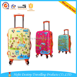 Promotional high quality 20'' 24'' ABS+PC travel cute cartoon box luggage