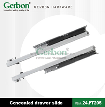 high quality push to open partial extension Concealed Drawer slide