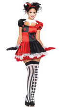 Hallopween party cosplay fancy dress ladies sexy clown costume lingerie women clown costume BWG8824