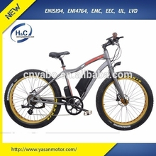 China new design Aluminium alloy no folding 48V 500W fat tyre electric bicycle 26""