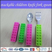 Vente chaude inox couteau et une fourchette pour enfants et des ménages cuisine ustensile
