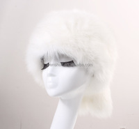 Winter Snow Hats Russian Faux Fox Fur Hats WarmTail Caps