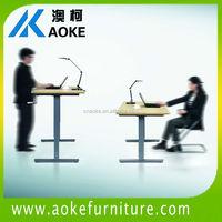 telescopic metal mechanism crank adjustable office table