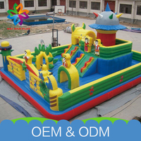 High Quality Fun Playground Equipment Commercial Used Customized Inflatable Bounce Castle With Slide