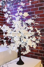 battery operate table white maple leaf tree with ultra birght led for weeding party