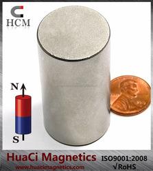 "N50 Cylindrical Neodymium Magnet Dia 1 x 2"" NdFeB Rare Earth Magnet"