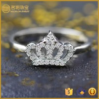 2015 most popular queen crown ring!Real 925 sterling silver queen crown ring for sale