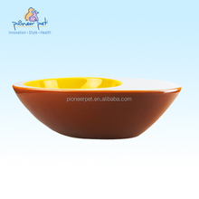 Large Egg Bowl for Pet /Pet food bowl /Ceramic cat dish in egg shape