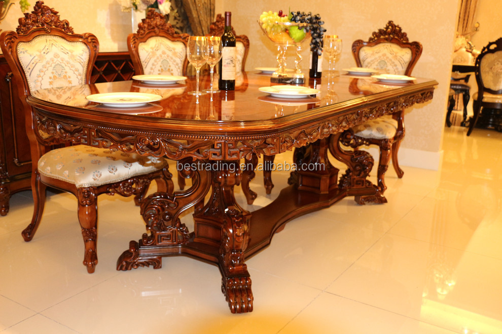 Mesa de comedor ovalada extensible tallada antigua mesa - Mesas de comedor antiguas restauradas ...
