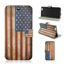 American Flag Stand PU Leather Phone Case For iPhone 6 4.7 inch, Flip Mobile Phone Cover For iphone 6 plus With Card Slot