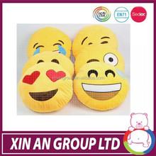 Hot selling new design cute cheap plush emoji pillows