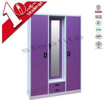 Bedroom cupboard style 3 door modern almirah designs laminate