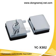 Frameless glass door key lock, high quality/ cerradura para las puertas de vidrio/ glass door lock YC-X302