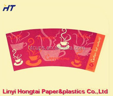 printed paper cup fan/paper cup blank/paper cup sheet