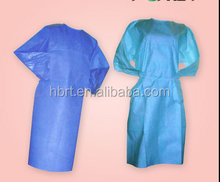 10 DISPOSABLE GOWNS BLUE TIE BACK ISOLATION DENTAL MED