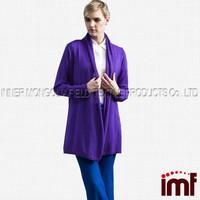 Plus Size Angora Cashmere Hooded Long Cardigan Sweater