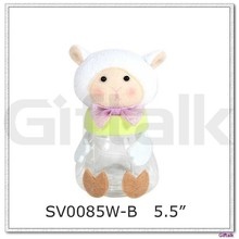 Decorative sheep shaped plastic jar for easter decoration