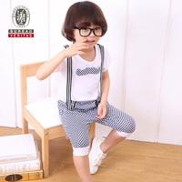 Kids clothing 2012 plaid short pant cute children clothing sets