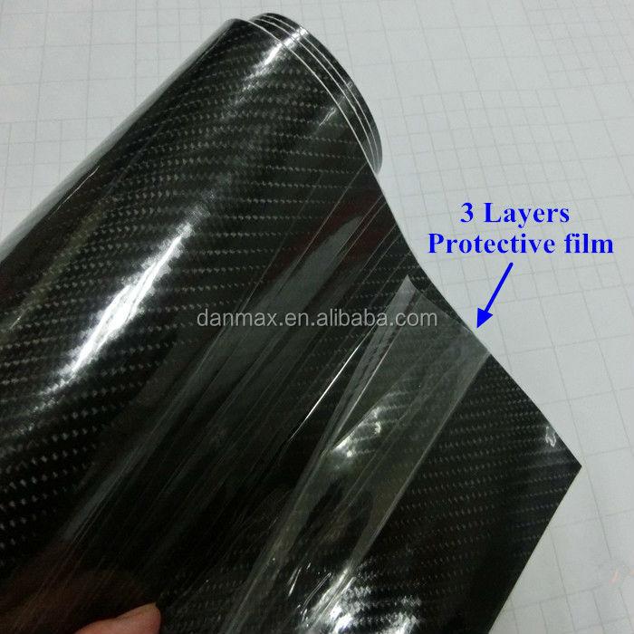 Black High Waterproof 5d Carbon Fiber Film Hydrographic