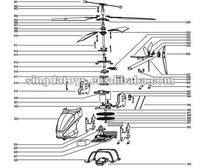 Cheap! Wholesale! MJX RC Helicopter T640C/T40C Spare Parts,MJX Components