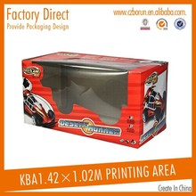 Custom fancy toy car packaging box with window
