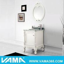 2014 SMALL wooden corner white lacquer bathroom cabinet