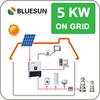 Bluesun cheap design grid tie 5kw home use solar panels system