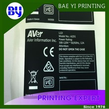 Company logo matte label printing sheet sticker