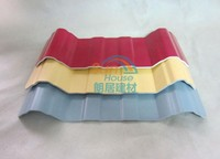 PVC sheets black corrugated plastic for roofing