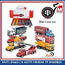 Tiny morir- cast coche camión pull back de metal juguete de camiones de bomberos