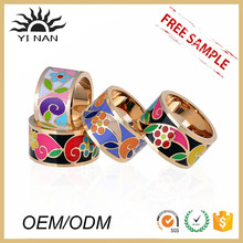 Best Selling Hot Chinese Products Stainless Steel Enamel Ring Fashion Wholesale