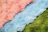 Polyester Chiffon Embroidery Fabric